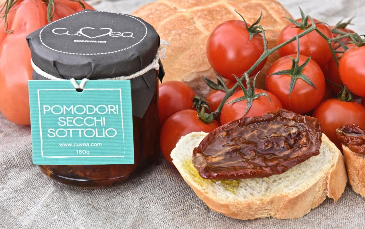 les tomates séchées dans l'huile d'olive